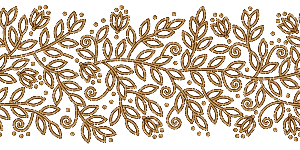 Gold pattern png. Floral ribbon by yagellonica