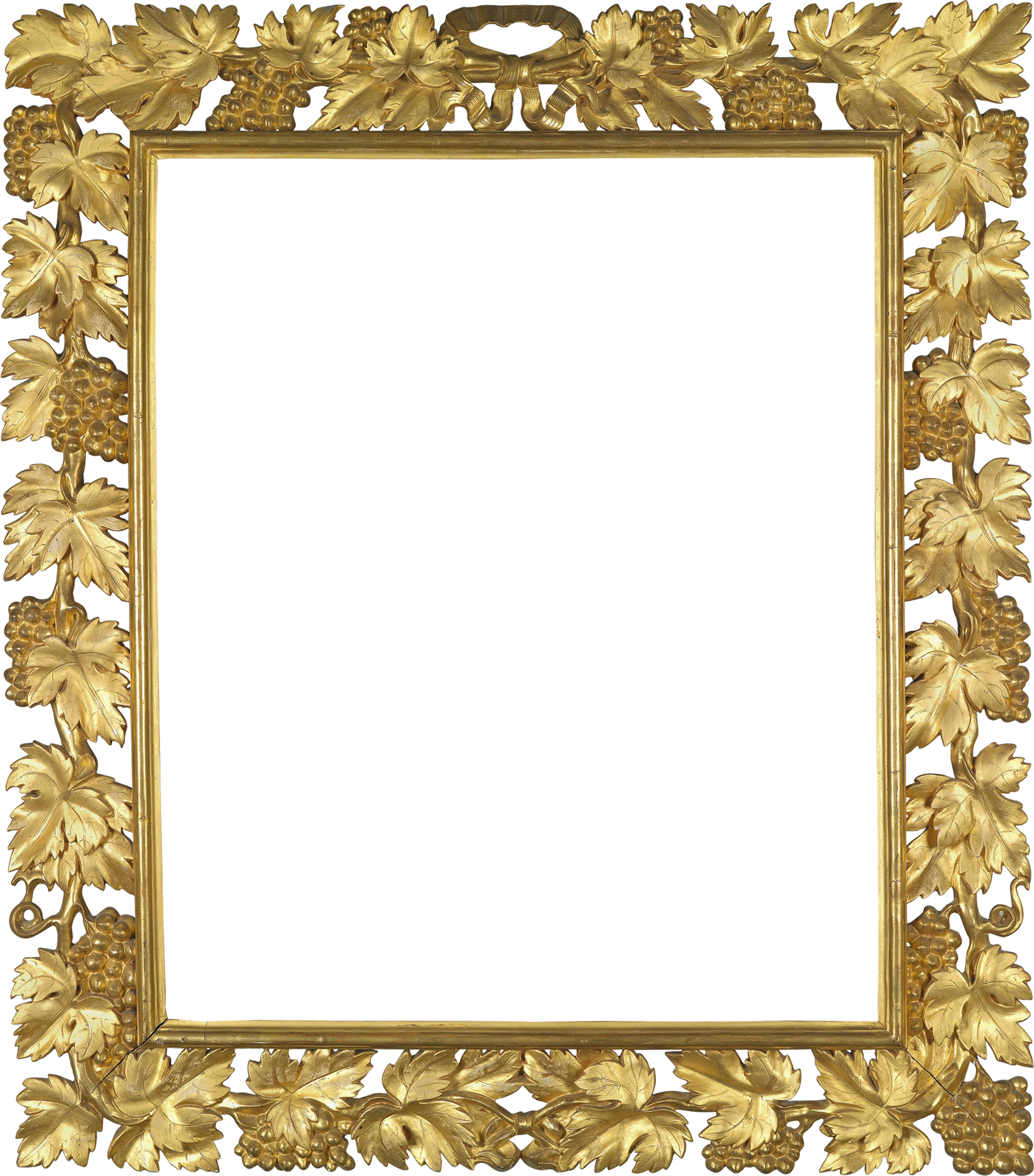 Gold photo frame png. Transparent with vine gallery