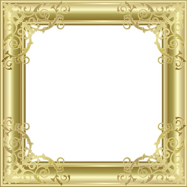 Gold frame transparent png. Photo gallery yopriceville high
