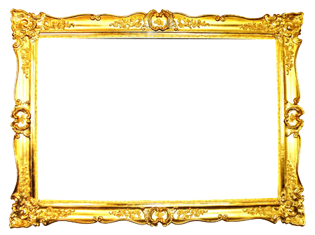 Ornate frame png. Gold transparent stickpng