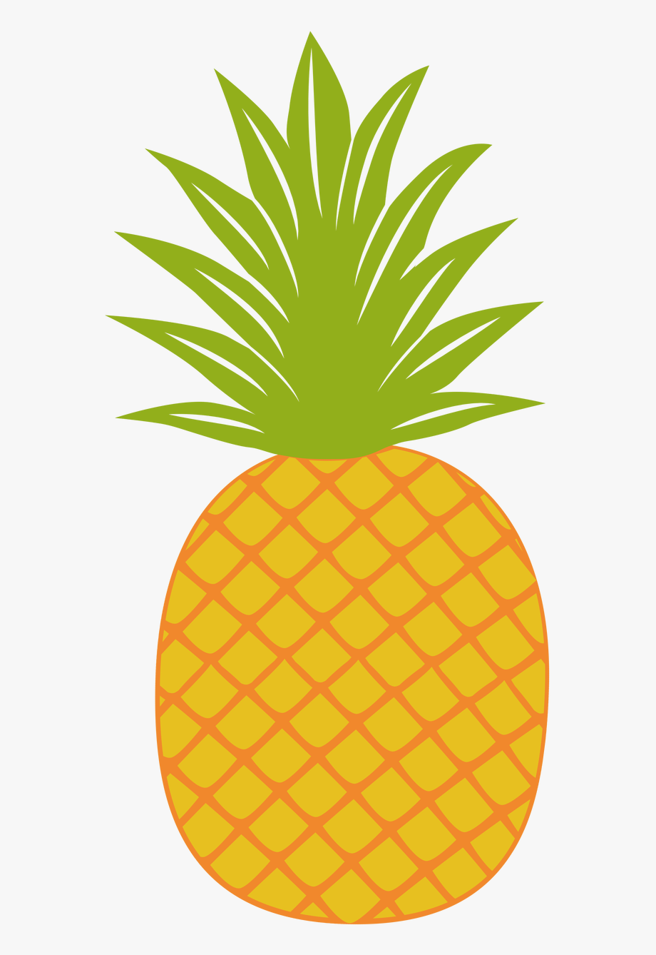 Gold pineapple. Clipart fancy image