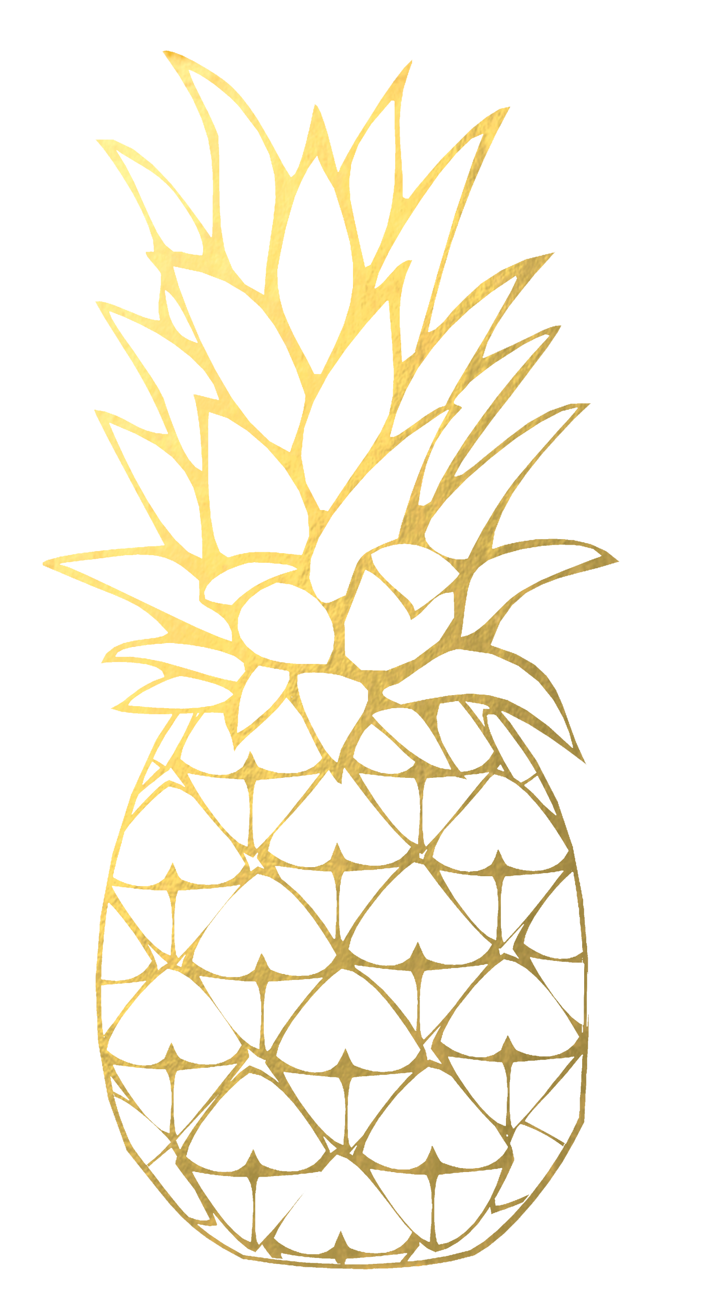 Gold pineapple. Clipart