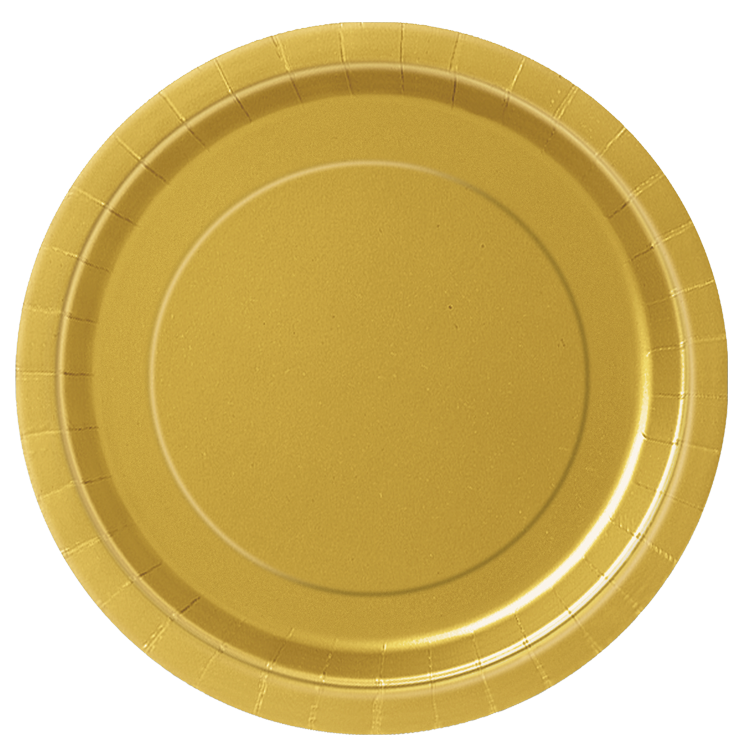 Gold plate png. Paper party plates