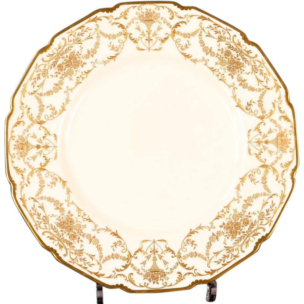 Gold plate png. Antique royal doulton