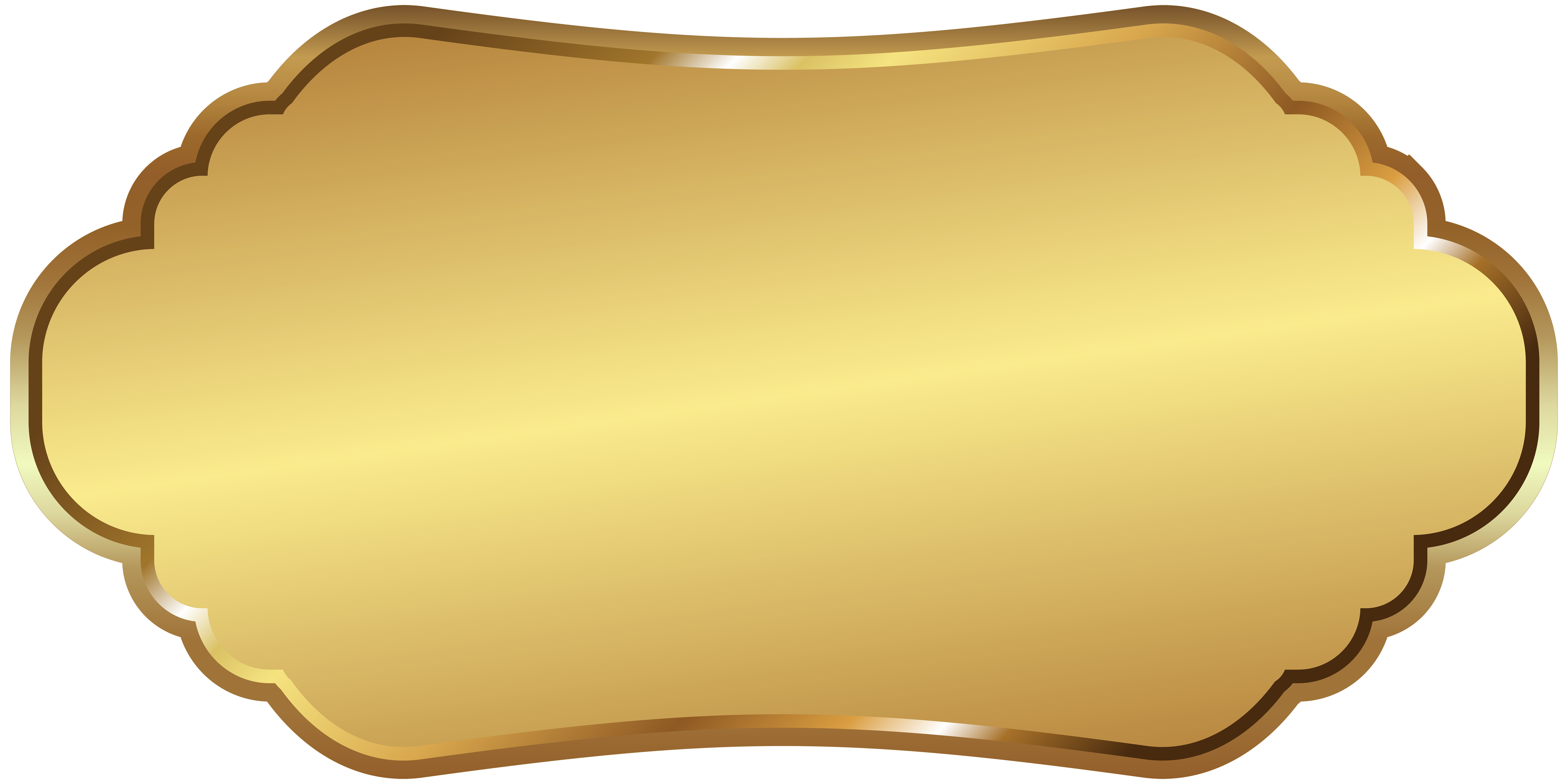 Gold plate png. Label template clip art