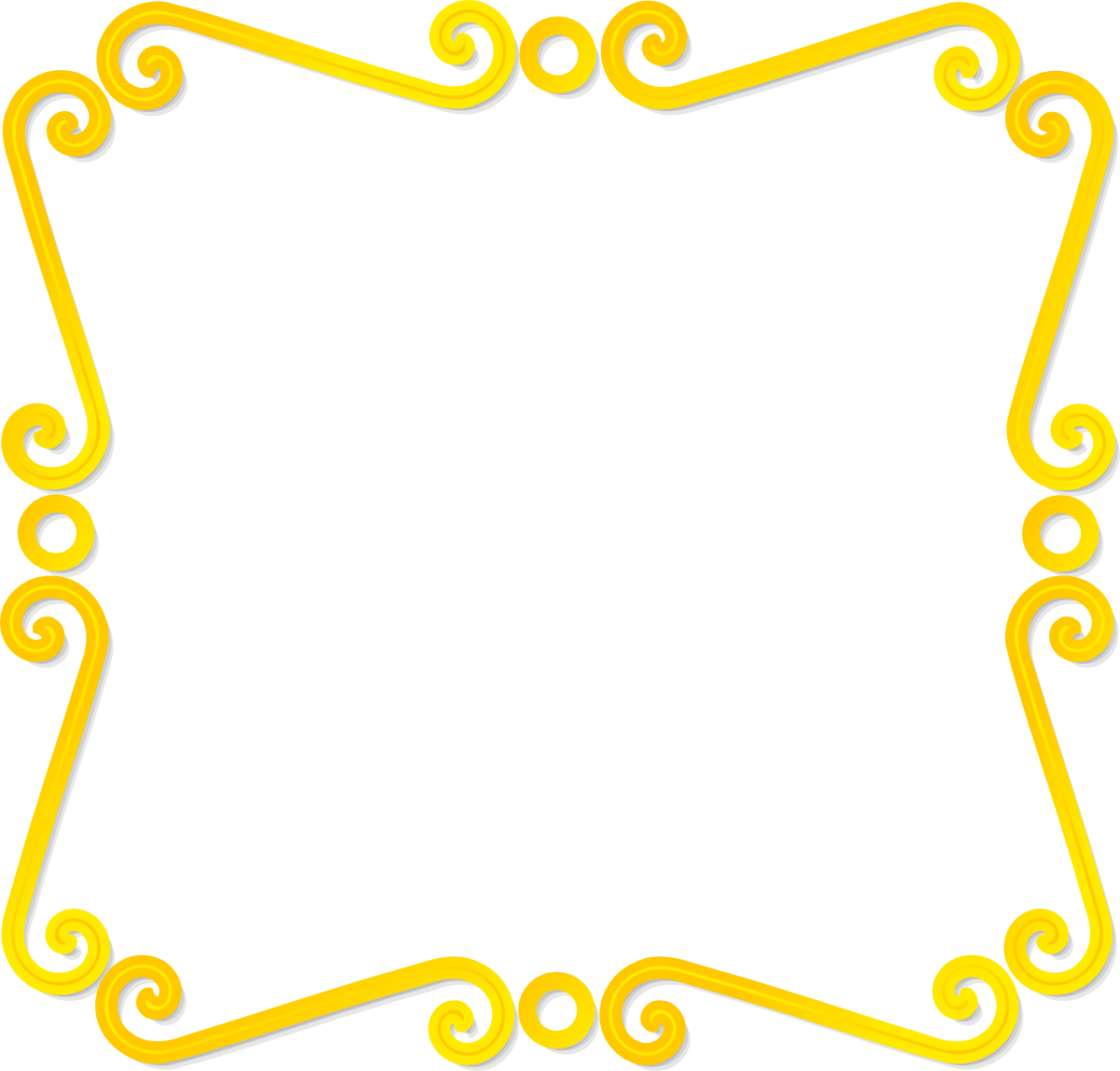 Gold png border. Free golden cliparts download