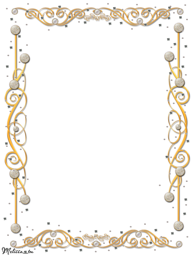 Frame png hd. Gold flower peoplepng com