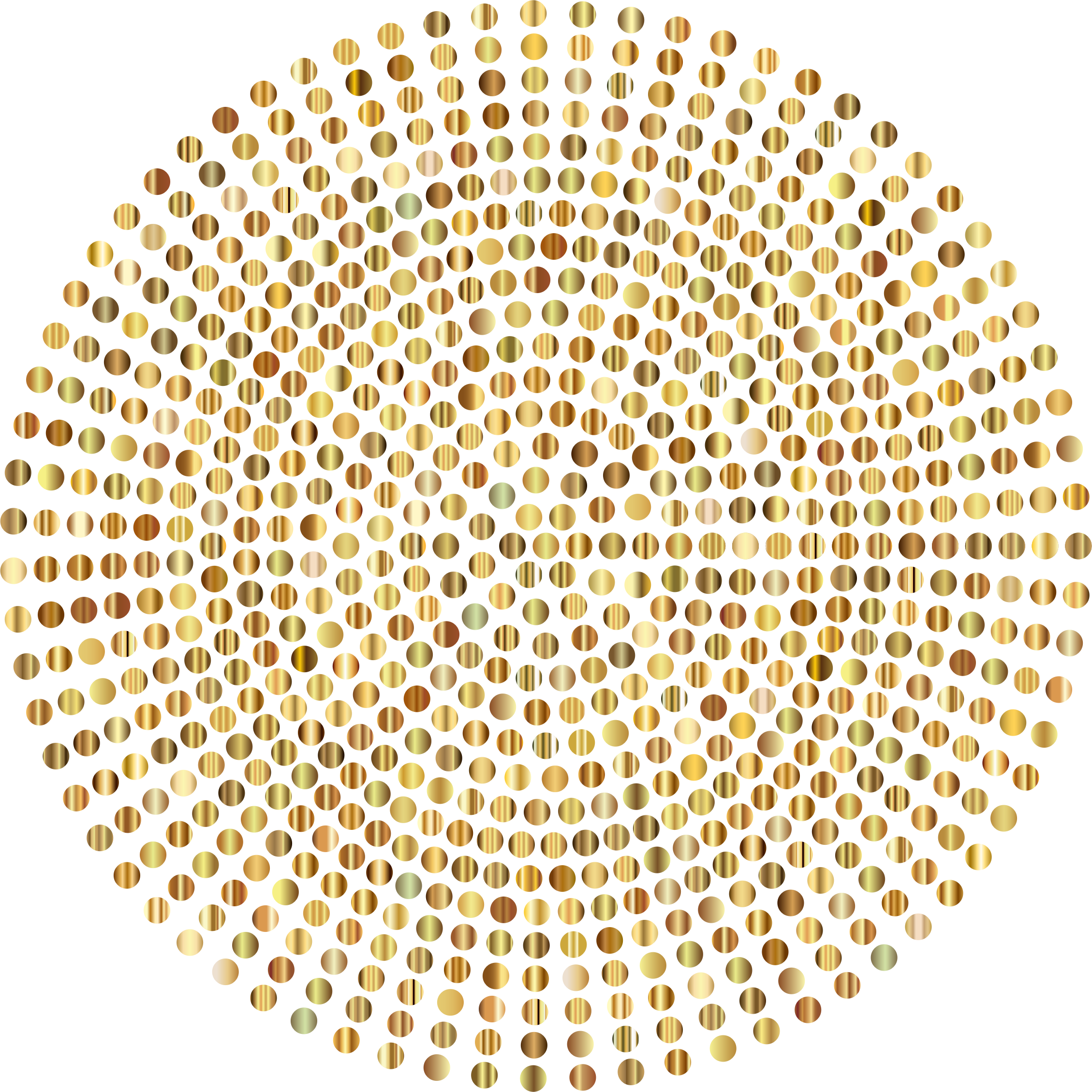 Dot transparent clear background. Gold radial dots no