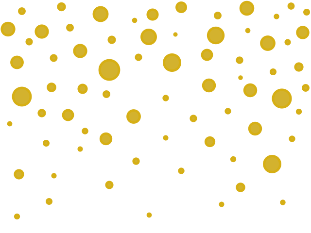 Vector glitter gold polka dot. Collection of clipart