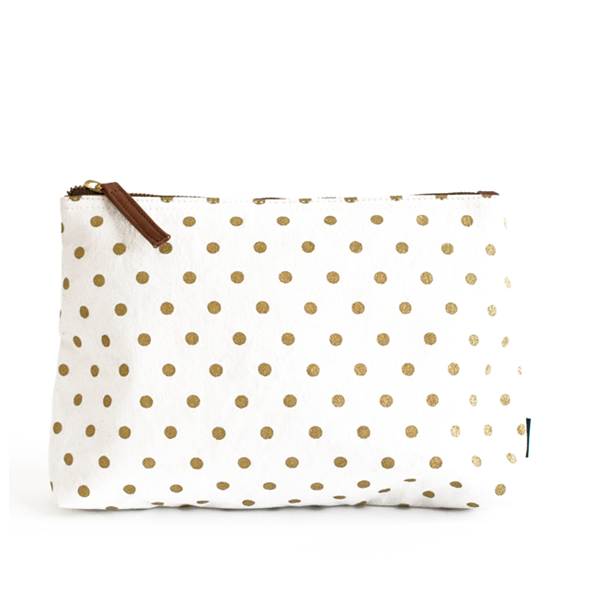 Gold polka dots png. Travel pouch maika