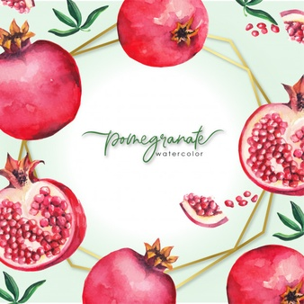 Gold pomegranate. Vectors photos and psd