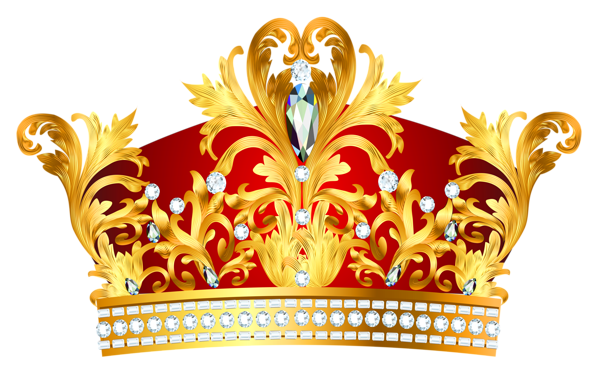 Gold queen crown png. Golden with diaonds clipart