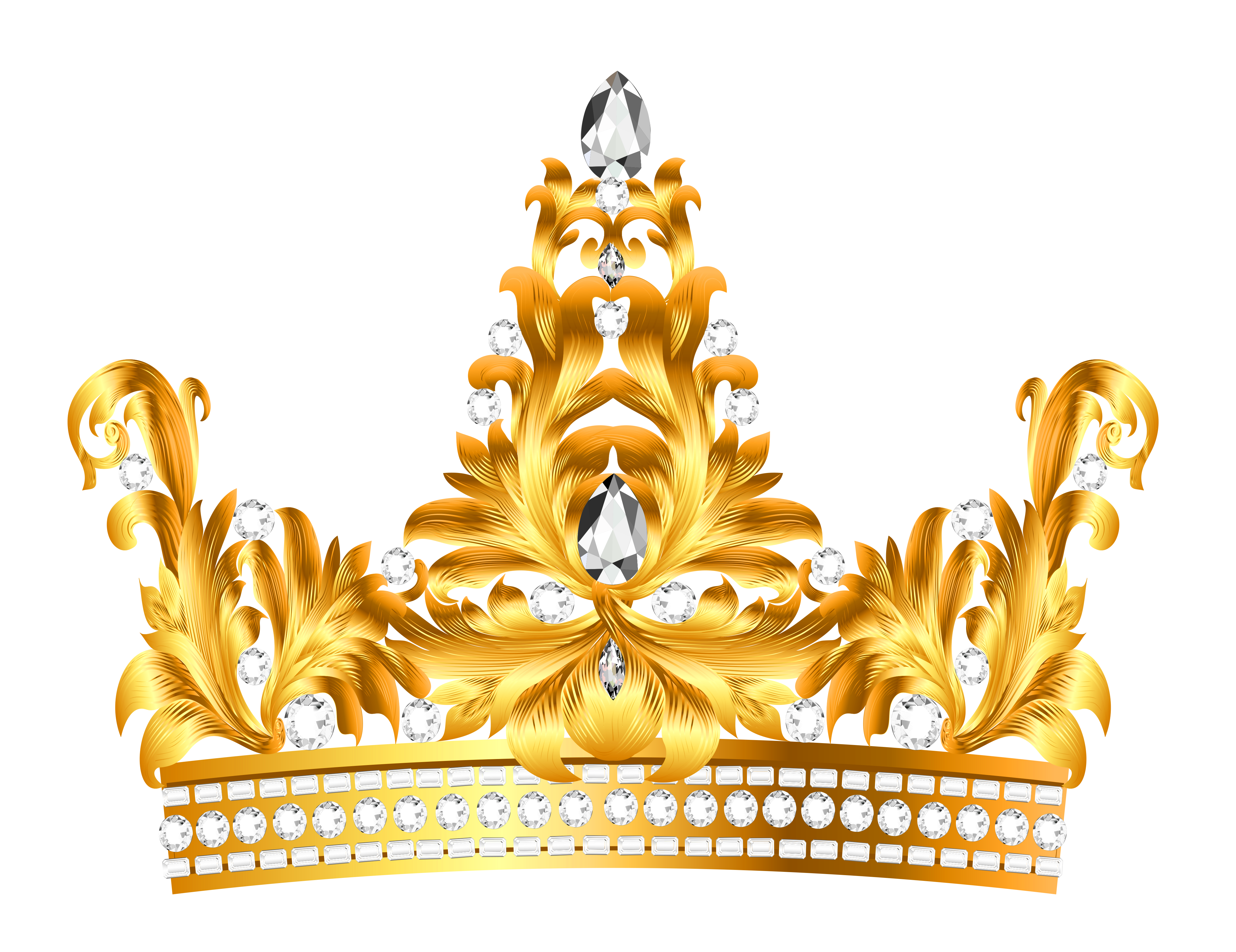 Transparent crowns rose gold. And diamonds crown png