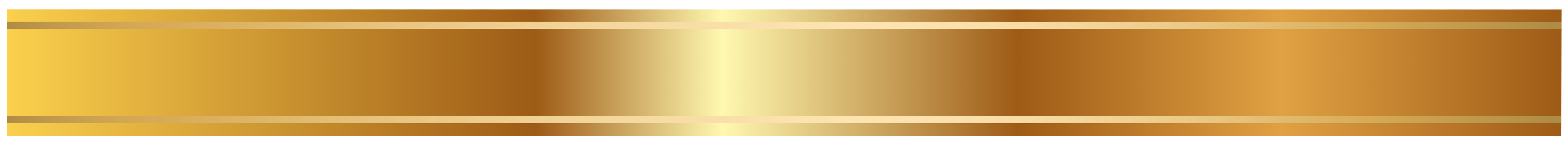 Gold ribbon banner png. Golden border isolated on