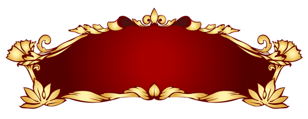 Gold ribbon banner png. Transparent red deco picture