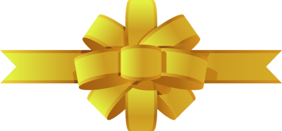 Gold bow png. Free ribbon cliparts download