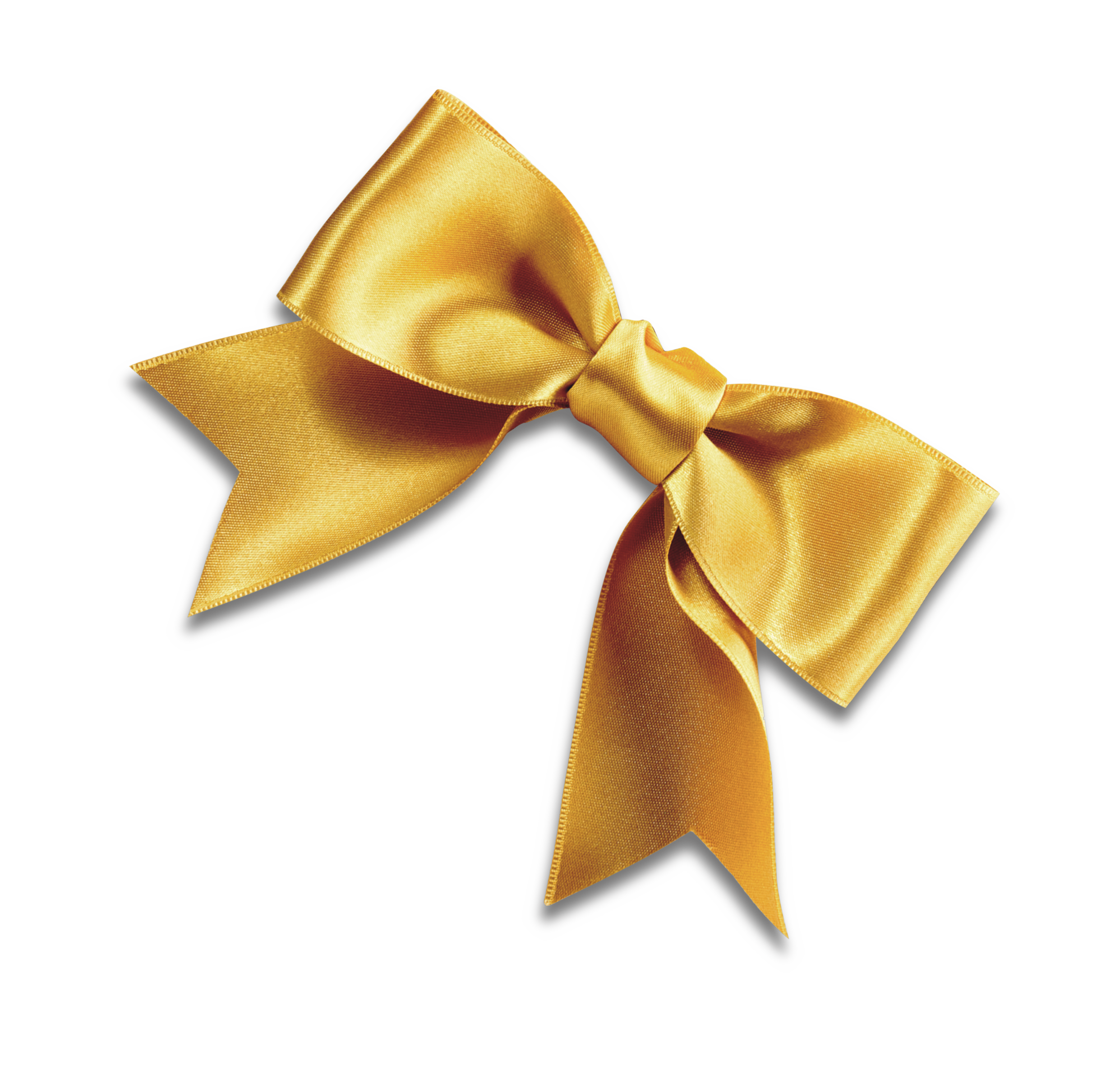 Gold ribbon bow png. Tie yellow shoelace knot