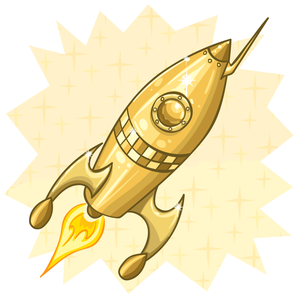 Gold rocket. Golden wallabee collecting and