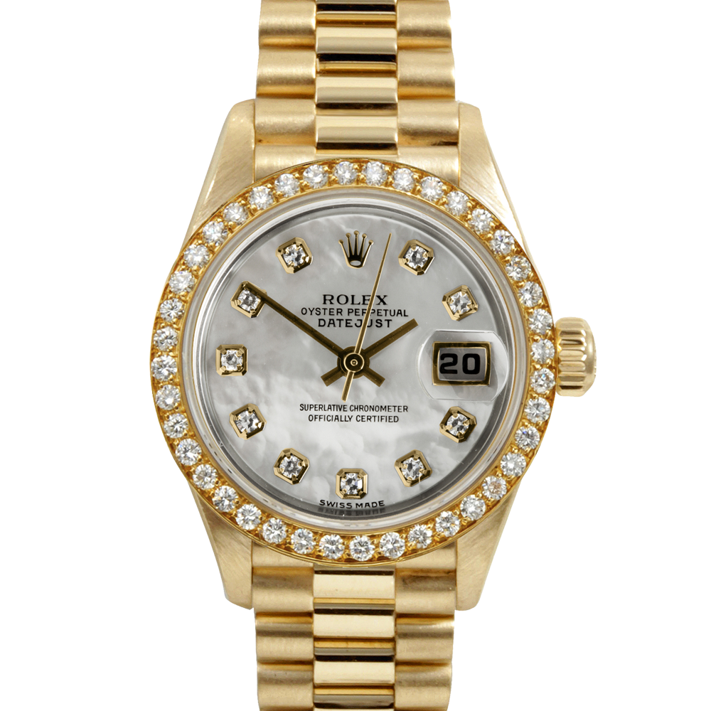 Gold rolex png. Pre owned ladies yellow