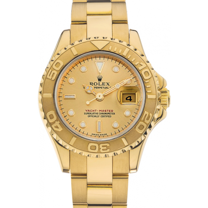 Gold rolex png. Yacht master white dial