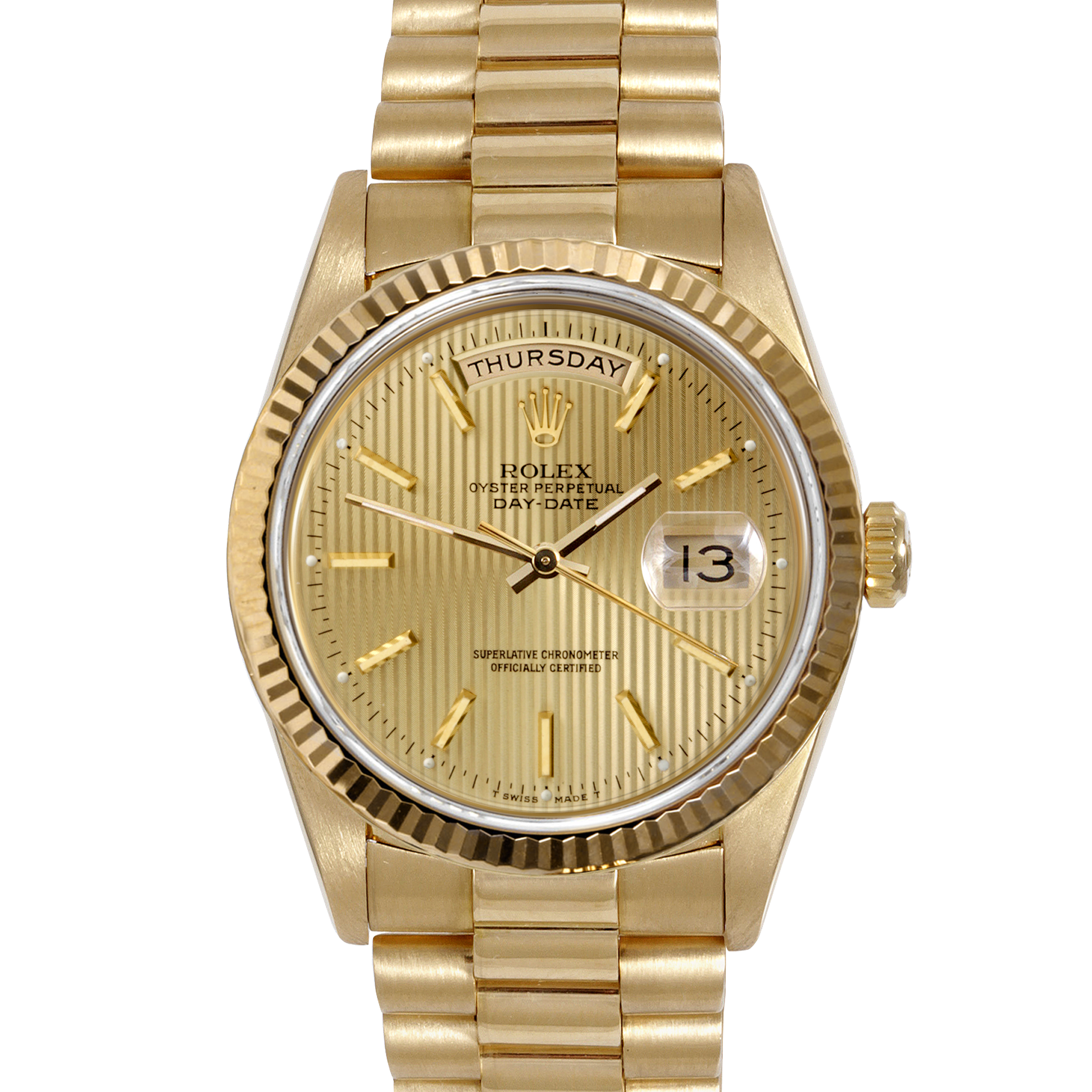 Gold rolex png. Mens yellow day date