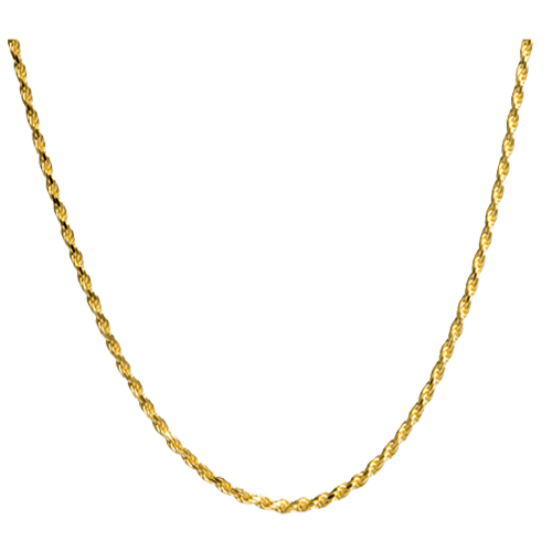 Gold rope chain png. Thick filled necklaces for