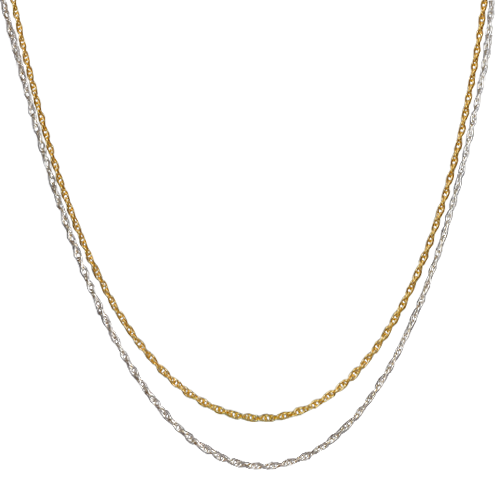 Gold rope chain png. Thin necklace silver chains