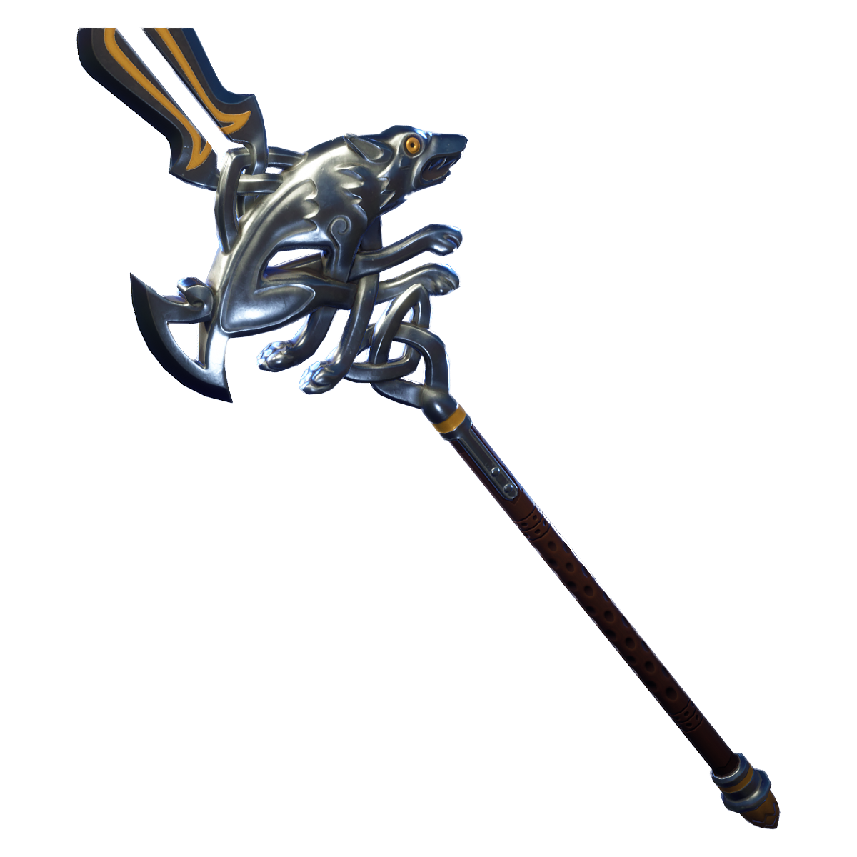 Gold scar fortnite png. Rare silver fang pickaxe