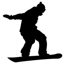 Large snowboard. Best sillhouettes of