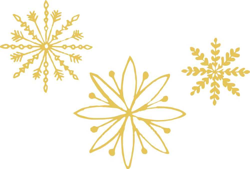 Gold snowflake png. Snowflakes images in collection