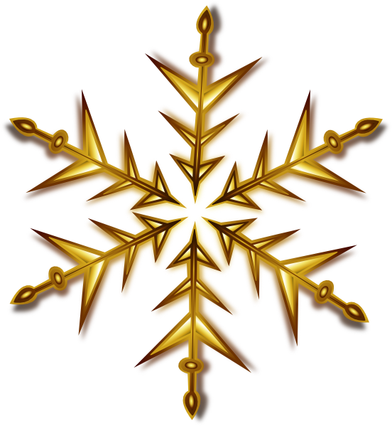 Gold snowflake png. Clip art at clker