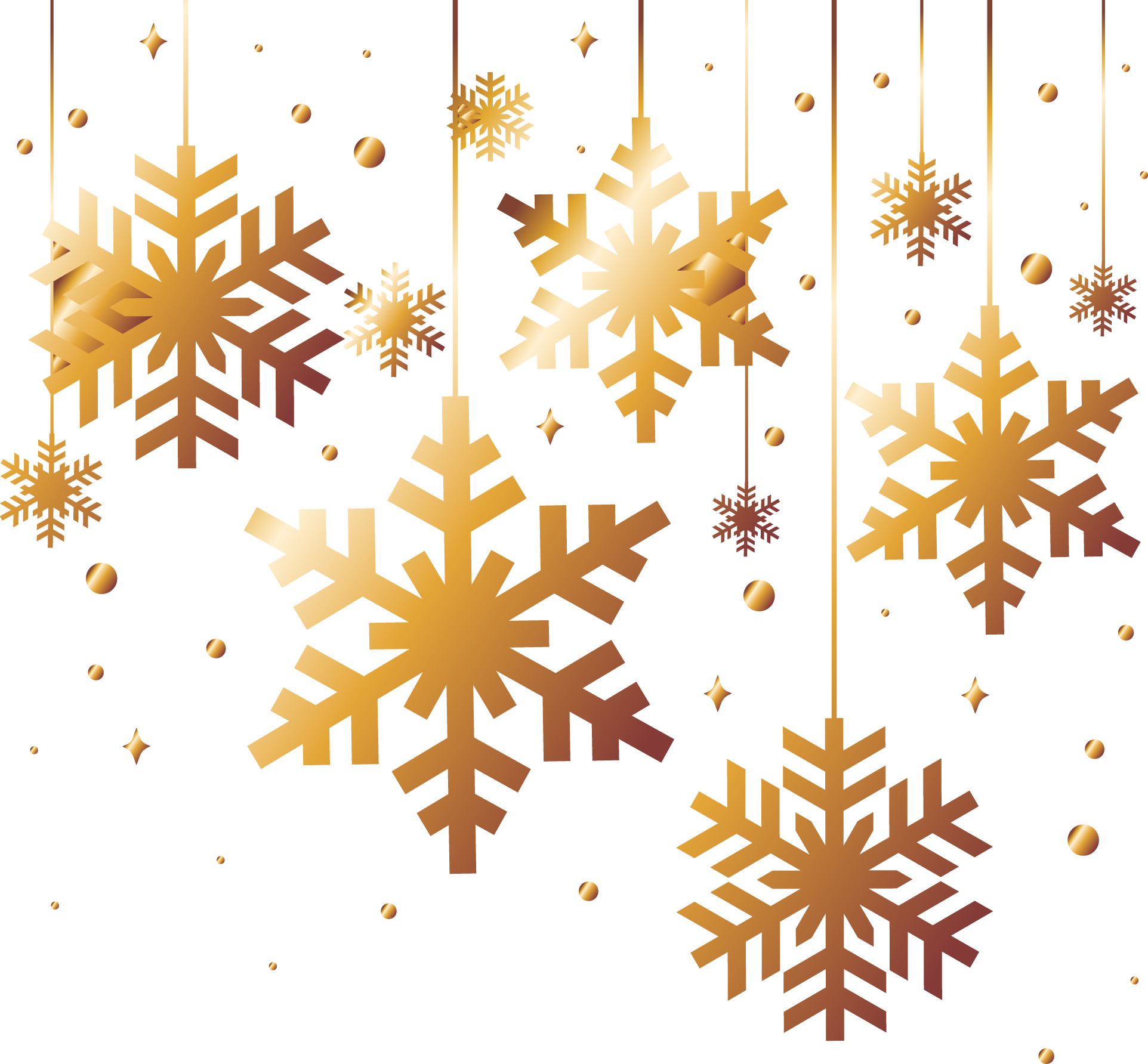 Gold snowflake png. Christmas download golden snowflakes