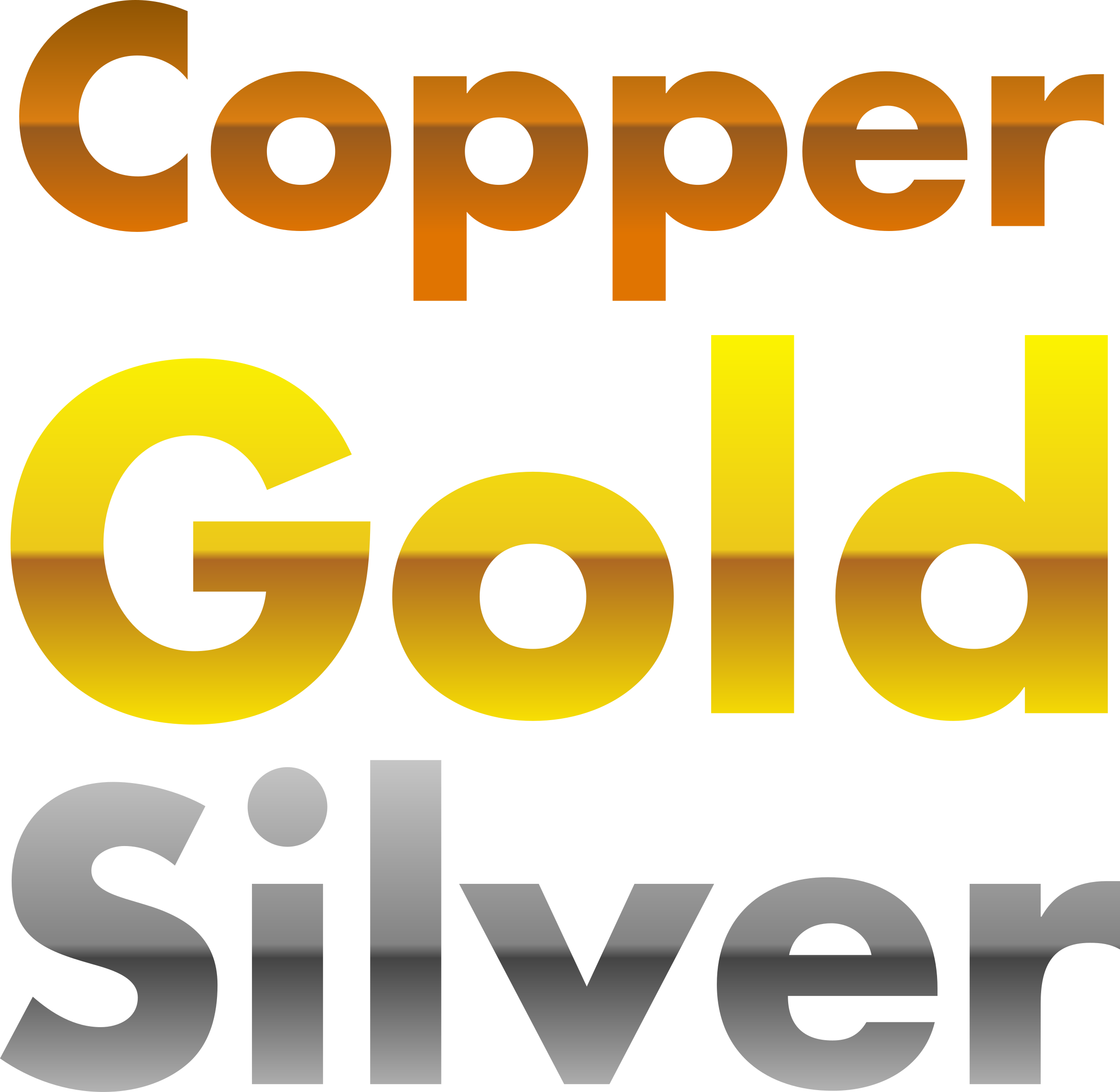 Gold social media icons png. Copper and silver gradients