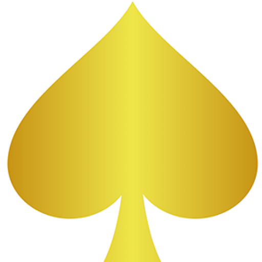 Gold spade png. Cropped black leave a