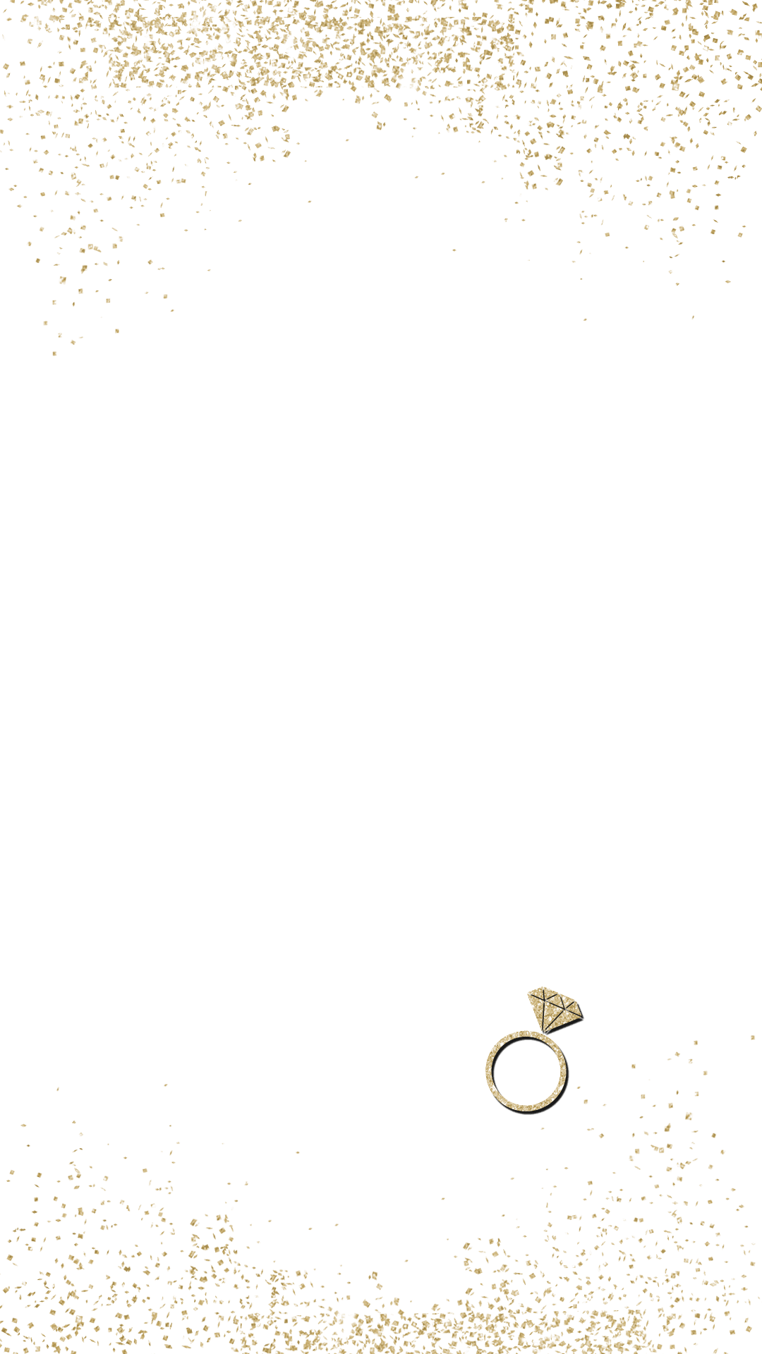 Gold sparkle png. Engagement snapchat filter geofilter