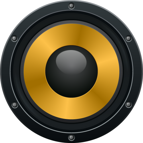 Gold speakers png. Audio free download speaker