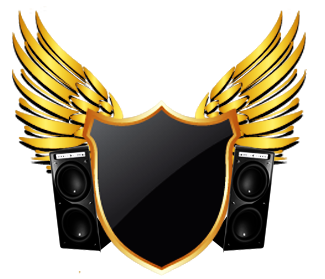Gold speakers png. Badge black sticker by