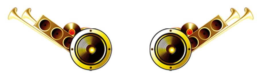 Gold speakers png. Loudspeaker audio electronics stereophonic