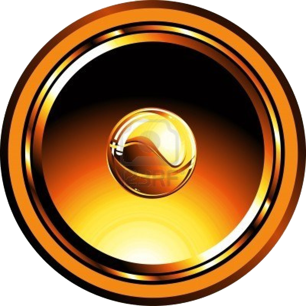 Gold speakers png. Loudspeaker royalty free stock