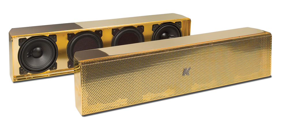 Gold speakers png. K array plated