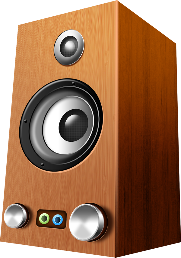 Gold speakers png. Wooden psd icons file