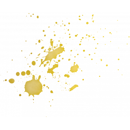 Gold splatter png. Christmas day elements graphic