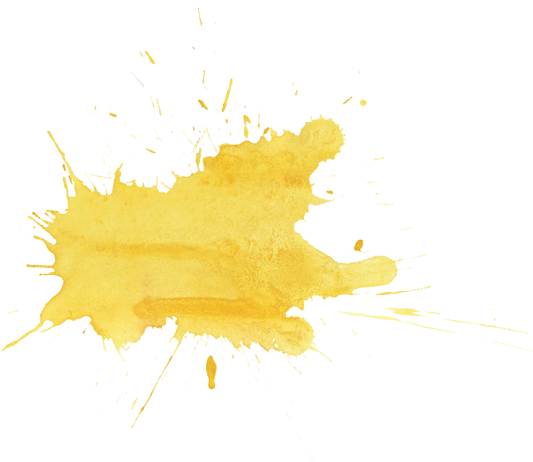 Gold splatter png. Yellow watercolor transparent