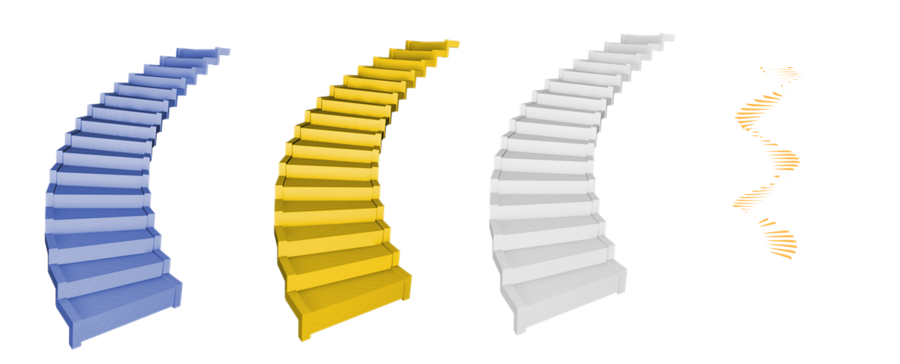 Gold stairs png. Spirial by mysticmorning on