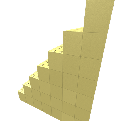 Gold stairs png. Roblox