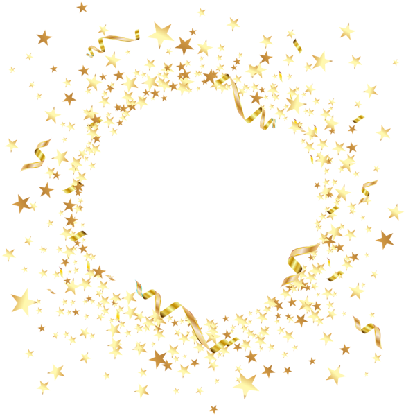 Stars .png. Round element with gold
