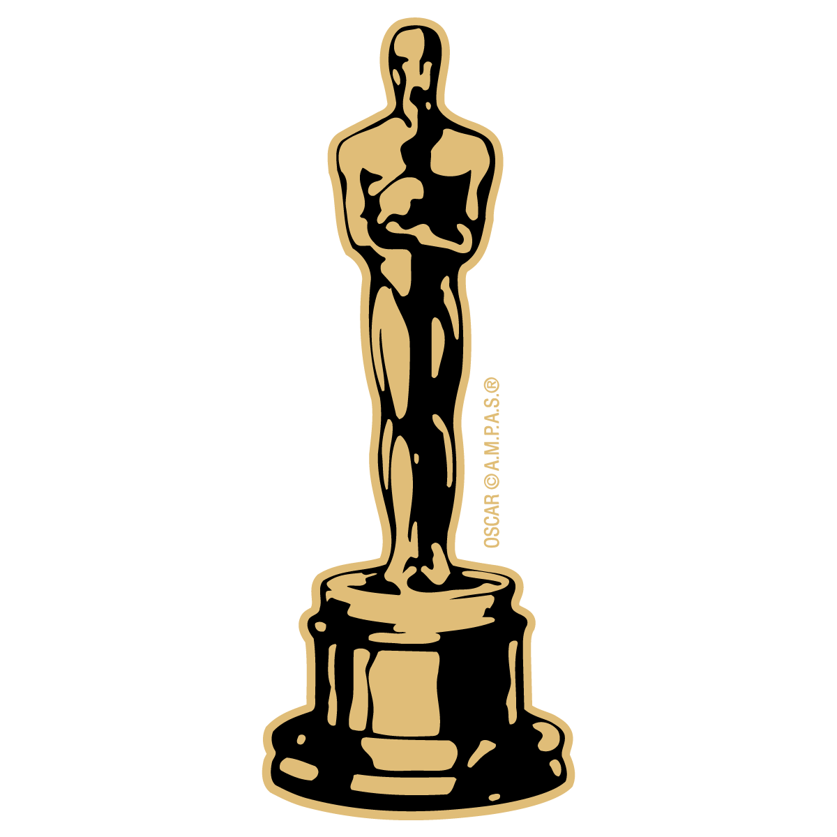 Oscar trophy png. Statuette drawing at getdrawings