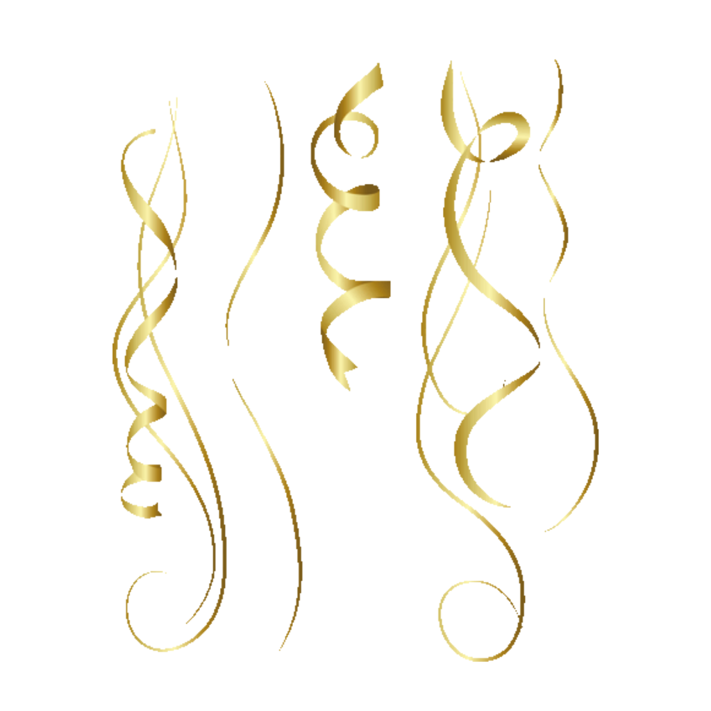 Gold streamers png. Party confetti simonevdw