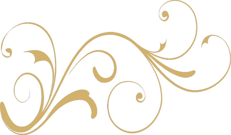 Gold swirl design png. Special occasion including wedding