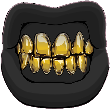 Gold tooth png. Download hd mouth lip